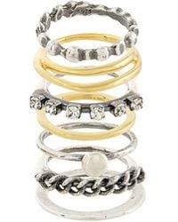 Iosselliani - Silver Heritage Set Of Rings - Lyst