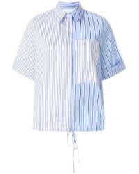 Victoria, Victoria Beckham | Striped Half Sleeve Shirt | Lyst