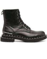 Calvin Klein Ботинки В Стиле Милитари С Заклепками - Черный