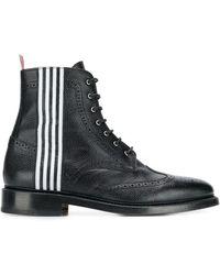 Thom Browne Wingtip Boots - Black