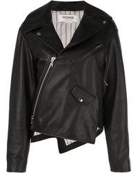 Monse Asymmetric Zip Jacket - Black