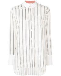 Paul Smith Black Label Gestreiftes Hemd - Weiß