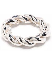 Bottega Veneta Twisted Band Ring - Metallic