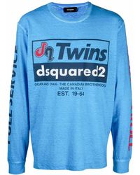 DSquared² ロゴ Tシャツ - ブルー