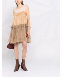 Parlor Colour-block Silk Shift Dress - Multicolour