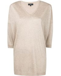 Fay Metallic V-neck Sweater