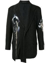 Yohji Yamamoto パネル デコンストラクテッド ジャケット - ブラック