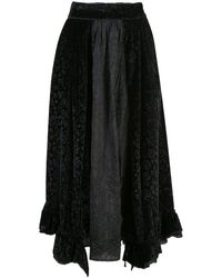 Renli Su フローラル スカート - ブラック