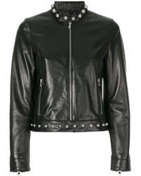 RED Valentino | Studded Detail Zip Up Jacket | Lyst