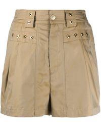Koche Shorts con detalle de ojales - Neutro