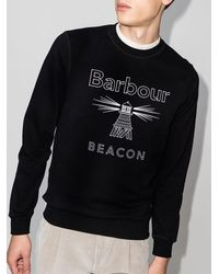 Barbour Beacon ロゴ スウェットシャツ - ブラック