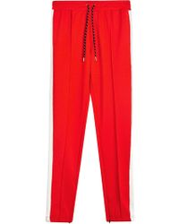 Burberry - Sport Stripe Cotton Blend Drawcord Trousers - Lyst