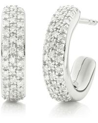 Monica Vinader Fiji Mini Hoop Diamond Earrings - Многоцветный
