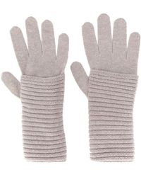 Blanca Vita Knitted Cashmere Gloves - Grey