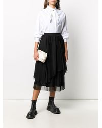 Fabiana Filippi - Поплиновая Рубашка С Завязками На Воротнике - Lyst