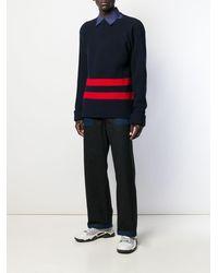 Marni ストライプ セーター - ブルー