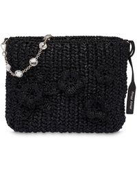 Miu Miu Raffia Bucket Bag - Black
