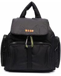 MSGM ロゴ バックパック - ブラック