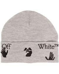 Off-White c/o Virgil Abloh ロゴ ビーニー - グレー