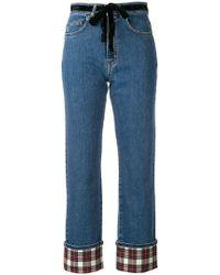 Isa Arfen - Jeans con risvolto - Lyst