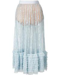 Amen - Layered Frills Skirt - Lyst