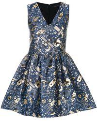 Frankie Morello - Jacquard Flared Dress - Lyst