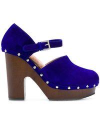 L'Autre Chose - Studded Platform Court Shoes - Lyst