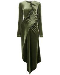 Preen By Thornton Bregazzi   Ruched Asymmetrical Dress   Lyst