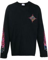 Rhude 'Neon Flame' Langarmshirt - Schwarz