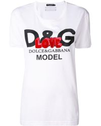 Dolce & Gabbana - Love Logo Print T-shirt - Lyst