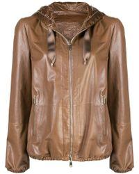Brunello Cucinelli Куртка На Молнии - Коричневый