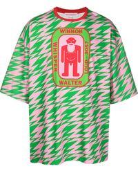 Walter Van Beirendonck Walter オーバーサイズ Tシャツ - グリーン