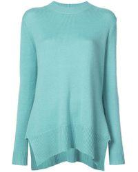 Derek Lam - Long Sleeve Crewneck Sweater With Godet Inserts - Lyst
