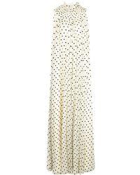 Adam Lippes ポルカドット ドレス - ホワイト