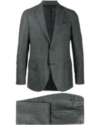 Dell'Oglio Fitted Two-piece Suit - Grey