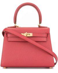 Hermès Bolso de mano Kelly 2way mini - Rojo
