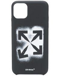 Off-White c/o Virgil Abloh Coque d'iPhone 11 Pro Max Stencil Arrows - Noir