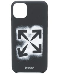 Off-White c/o Virgil Abloh Funda Stencil Arrows para iPhone 11 Pro Max - Negro