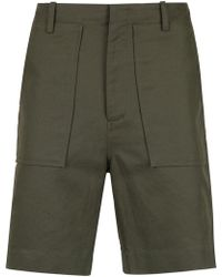 Egrey - Tailored Straight Fit Shorts - Lyst