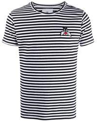 MOA Sylvester Embroidery Cotton T-shirt - Blue