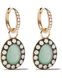 Annoushka - Dusty Diamonds 18ct Gold Jade Earrings - Lyst