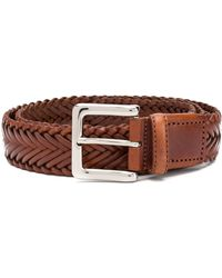 SCAROSSO Braided Casual Belt - Brown