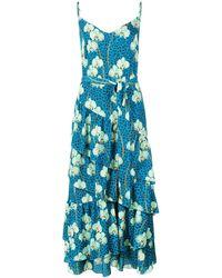 Borgo De Nor プリント ドレス - ブルー