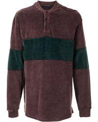 Y. Project Colour-block Terry Cloth Sweatshirt - Purple