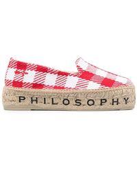 Philosophy Di Lorenzo Serafini X Manebì Check-print Espadrilles - Red