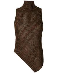 Cecilia Prado Knitted Mariane Blouse - Brown