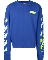 Off-White c/o Virgil Abloh 'diagonals' Sweater - Blauw