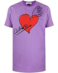 Vivienne Westwood Anglomania ハートプリント Tシャツ - ピンク
