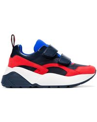 Stella McCartney - Black, Red And Blue Eclypse 45 Chunky Velcro Trainers - Lyst