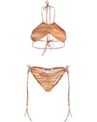CHARLOTTE KNOWLES Horizontal-stripe Bikini - Red
